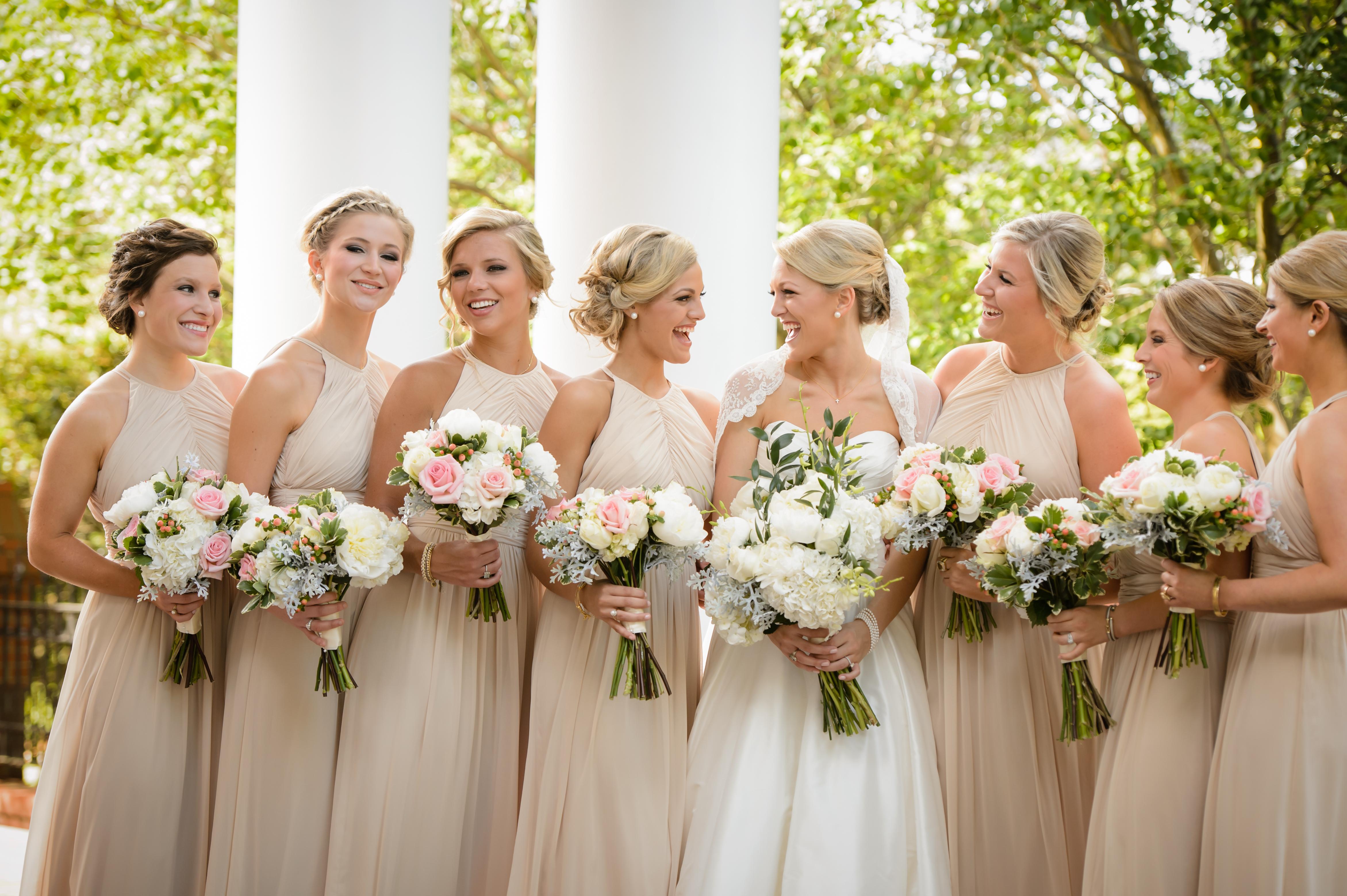 Be our guest wedding etiquette 101 bella bridesmaids dessy lux chiffon palomino ombrellifo Choice Image