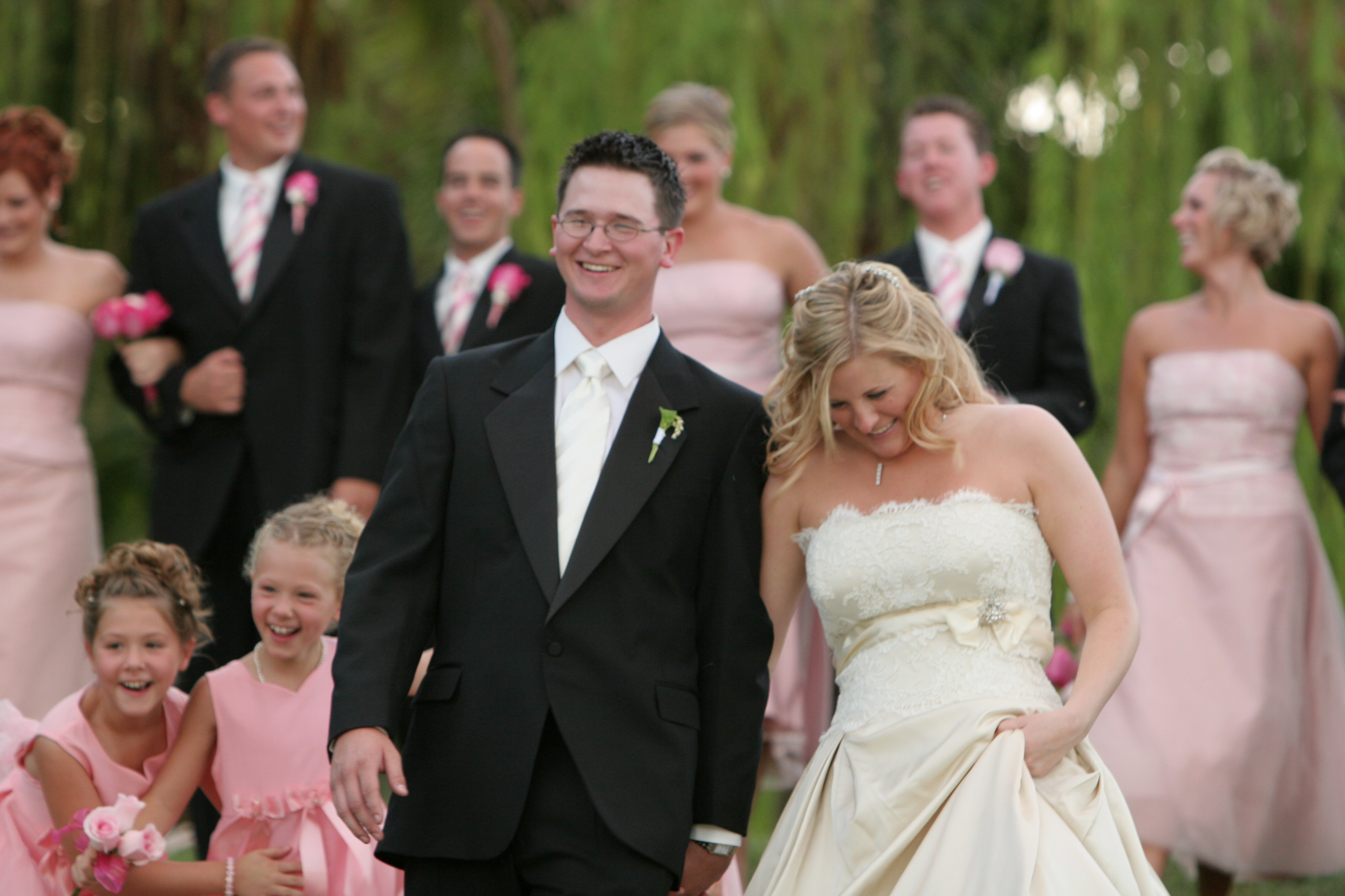 Jamie and her husband couldn't have been more excited for their wedding day!