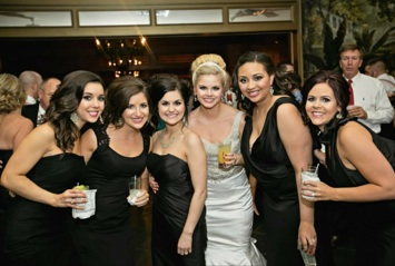 Meghan and her bridesmaids including co-owner Danielle!