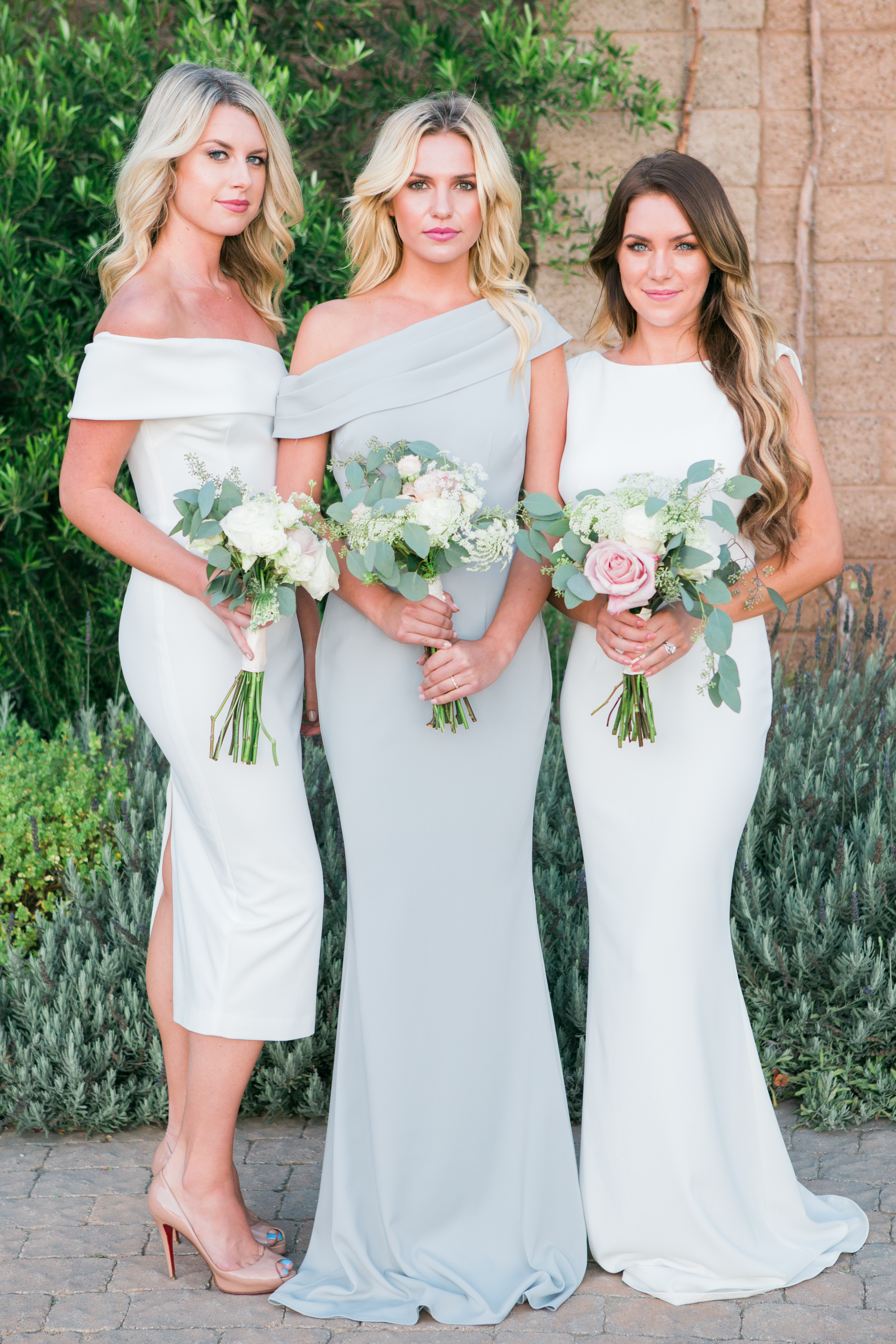 Its here meet katie may bella bridesmaids styles l to r apollo in ivory layla in dove vionnet in ivory ombrellifo Gallery