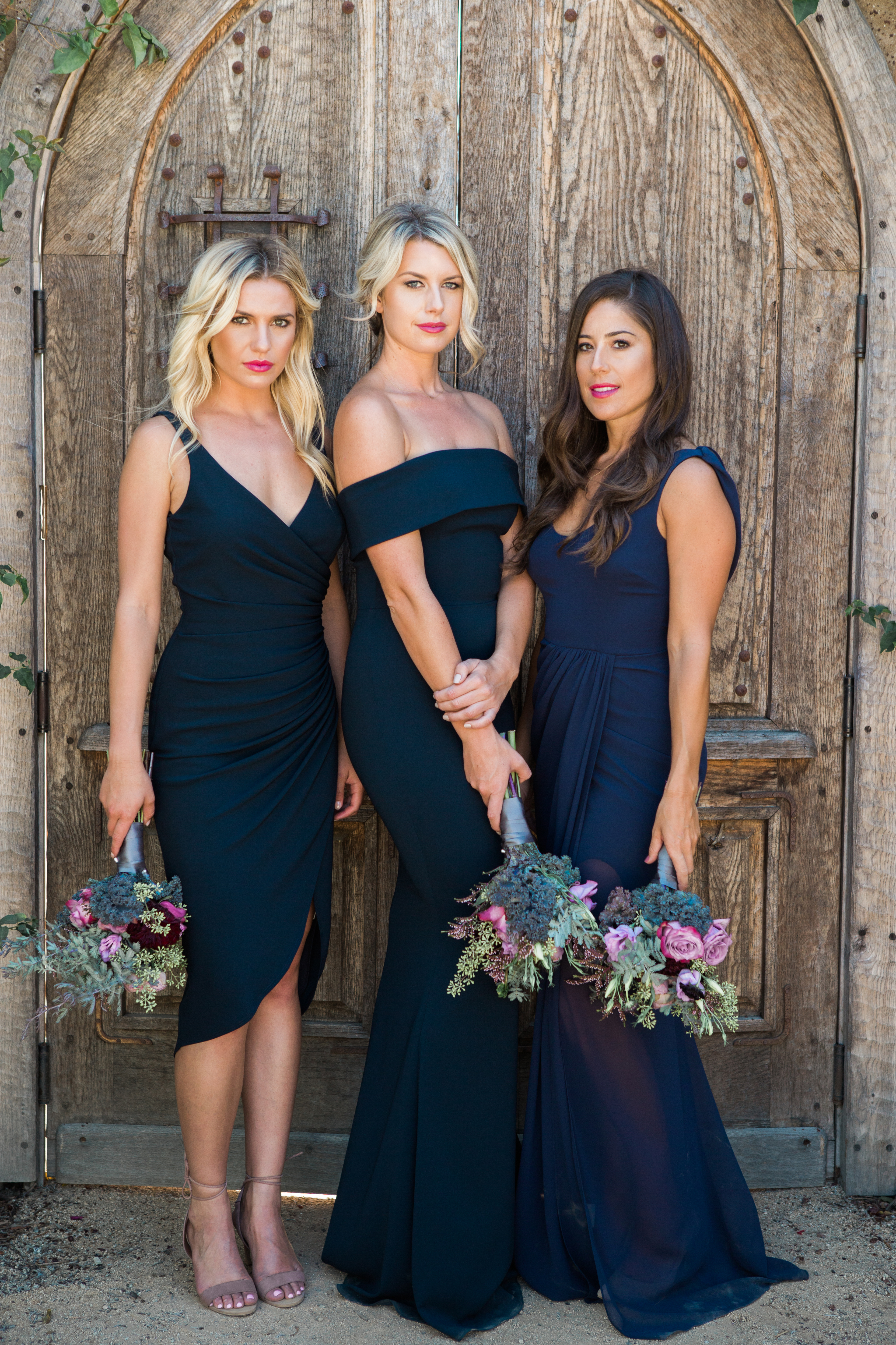 Its here meet katie may bella bridesmaids styles l to r persephony legacy and athena in navy ombrellifo Gallery