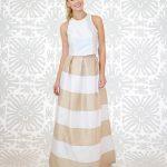 Dahlia Skirt Long STRIPED