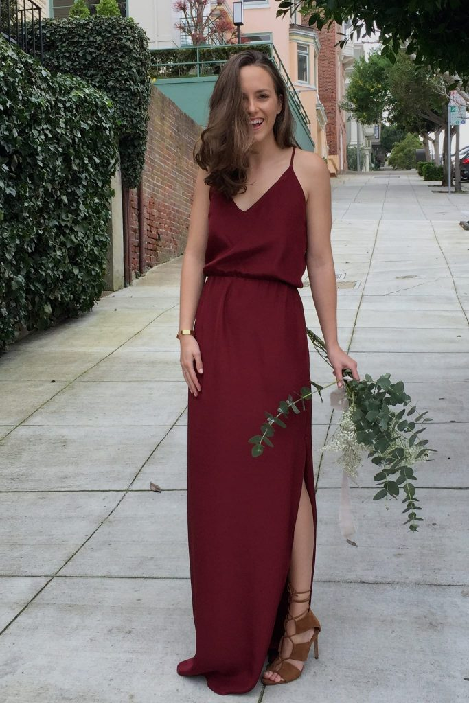 The V-Neck Cinch Gown